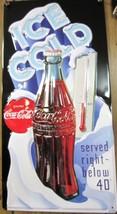 Embossed Tin Coca-Cola Ice Cold/Below 40% Sign - NEW - $18.80