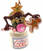 Tasmanian Devil Cookie Jar Christmas Tree Ornament Looney Tunes in Box - $8.99