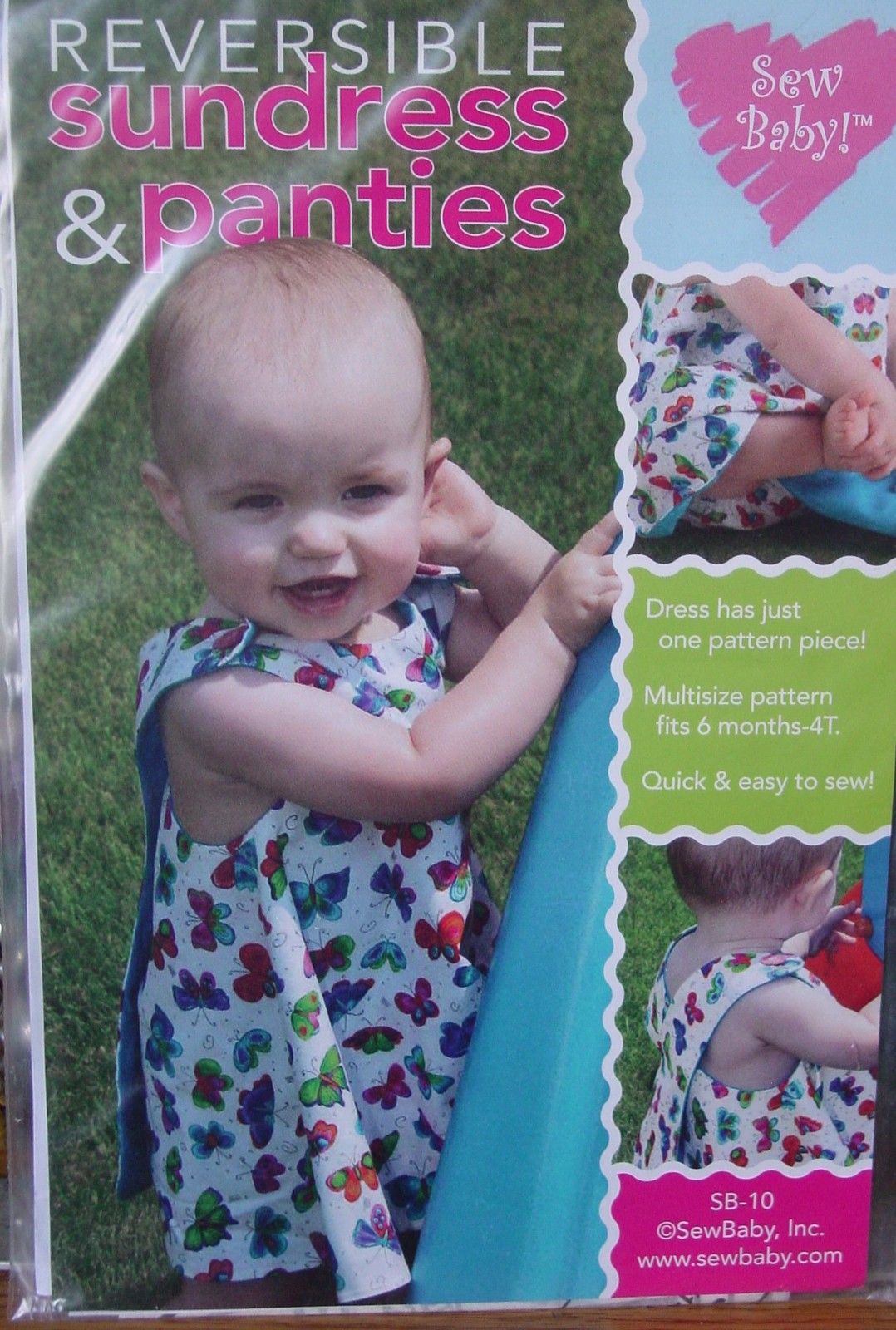 Sewing Pattern One Piece Sundress sizes 6mo-4T Easy! - $5.00