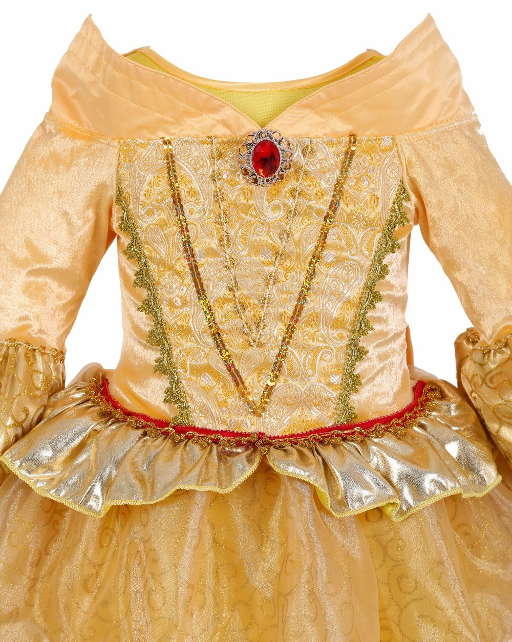 Beauty and beast cosplay dresses for girls belle princess kids girls costume dress christmas  5
