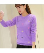 and Winter 2018 New Korean Edition Thickened Round collar Short sleeved ... - €24,78 EUR