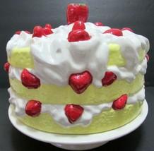 Vintage 70s Strawberry Shortcake Ceramic Cake Plate & Dome Cover Pedesta... - $98.77