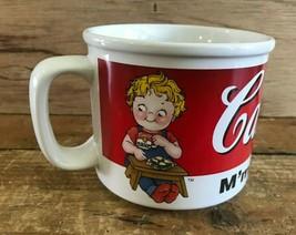 Vtg 90s 1998 Campbell's Soup Advertising Ceramic Coffee Mug Children Kids Logo - $19.34