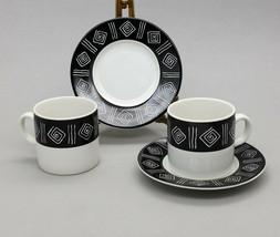 Sakura Sue Zipkin Sphinx Demitasse Espresso Coffee Mug Cup Saucer Set of 4 pcs - $18.98
