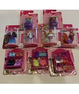 Mattel Barbie 4 Figures,Shoes Headbands Handbags with Pink Rack 2 Puppie... - $18.42
