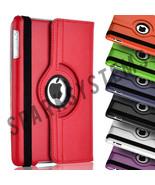 360 Rotating PU Leather Stand Fold Case Cover For Apple iPad & Mini 1234... - $5.22