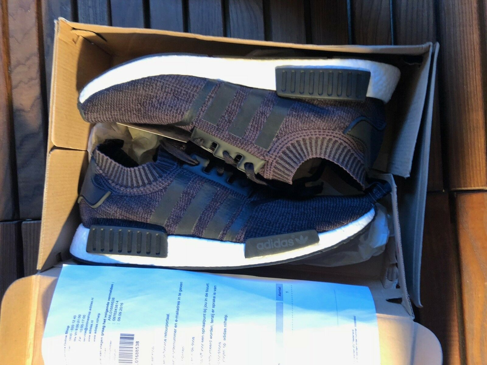 Adidas Black Primeknit Wool Runner Size 48 2/3 New image 2
