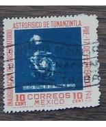 Nice Vintage Used Mexico 10 Cent Astrofisico De Tonanzintla Stamp, GDC -... - $2.96