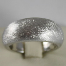 .925 RHODIUM SILVER RING BAND, SATIN AND SCRATCHED BY NANIS MADE IN ITALY image 1