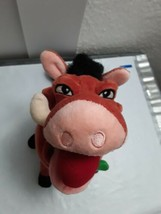 "Disney Store Lion King Pumbaa Hula apple in mouth 7"" tall Plush & Beans - $15.49"