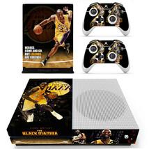 Xbox one S Slim Kobe Bryant Black Mamba Skin Stickers Decals for Console Remotes - $13.37