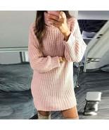 Laamei Autumn Sweater Women Pullover Turtleneck Solid Color Sweater Slim... - €15,80 EUR