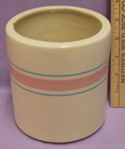 SM MCCOY STRIPE PINK BLUE COFFEE TEA CANISTER CONTAINER - $14.84