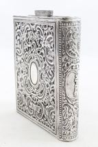 Judaica Vintage Silver Filigree Tzedakah Charity Box Book Design image 1