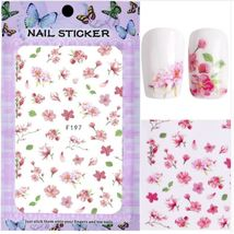 "HS Store - 1pcs ""F-187"" 3D Sweet Beauty Flower Sticker Nail Art Decal Nail - $2.62"