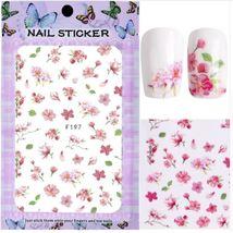 "HS Store - 1pcs ""F-187"" 3D Sweet Beauty Flower Sticker Nail Art Decal Nail - $2.62"