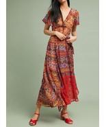 Anthropologie Murol Wrapped Maxi Dress by Akemi+Kin $168 Sz 4P - NWT - $84.99