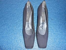 Stuart Weitzman Black Textile Pumps For Women / 7.5 Aa Width ----- Lot 693 - $12.50