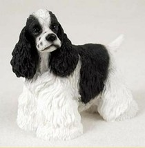 COCKER SPANIEL (BLACK WHITE) DOG Figurine Statue Pet Lovers Gift Resin F... - $19.99