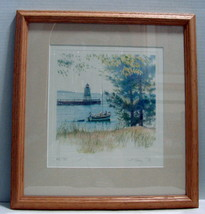 "Kathleen Chaney Fritz The Michigan Collection Original Print ""Four O' Cl... - $45.00"