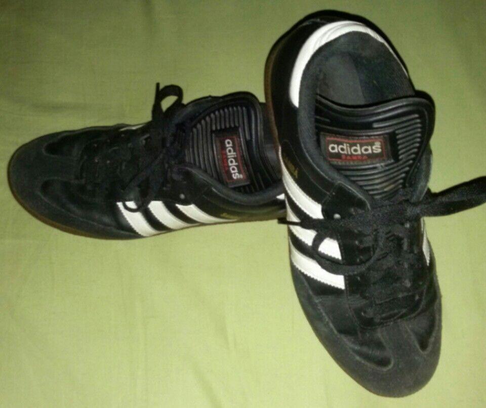 Details about Adidas Men's Black White Samba Classic Soccer Shoes 034563 Size 8 US
