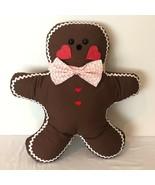 Gingerbread Cookie Stuffed Pillow Plush Handmade Holiday Christmas Decor... - $49.99