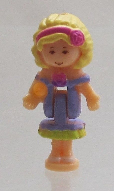 1996 Vintage Polly Pocket Dolls Sweet Roses - Polly Bluebird Toys