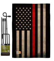 USA Thin Red Line Burlap - Impressions Decorative Metal Garden Pole Flag... - $33.97