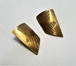 Vintage Brass Pierced Earrings - $4.95