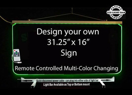 "Personalized LED Sign-Design your own Sign,  Multi-Color Changing 31.25""... - $287.10"