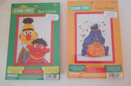 Sesame Street Counted Cross Stitch Kits (2) Bert & Ernie,  Cookie Monster - $15.00