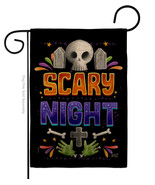 Scary Night Burlap - Impressions Decorative Garden Flag G135296-DB - $22.97