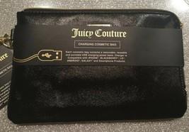 Juicy Couture Black Charging Cosmetic Bag Zip Wristlet Wallet $60 NWT - $38.99
