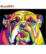 RUOPOTY Frame Picture Dog Animals DIY Painting By Numbers Kits Hand pain... - $155,82 MXN+