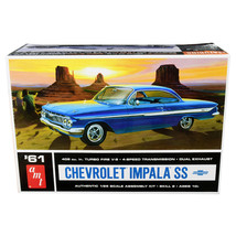 Skill 2 Model Kit 1961 Chevrolet Impala SS 1/25 Scale Model by AMT AMT1013 - $44.09