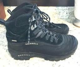 MERRELL Men's Glacier Shell Black/Tanga Hiking Boot  9 - $49.45