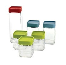 Glasslock 12-Piece Square Block Canister Set - $43.40 CAD