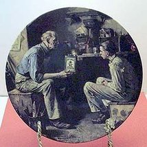 "Knowles Norman Rockwell Heritage ""The Apprentice"" Collector Plate - $29.70"