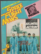 Space Flight News #14 1987 Space Station Shuttle Atlantis Mission to Phobos - $9.43