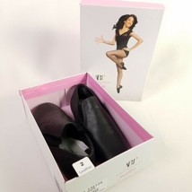 ABT Spotlights Girls Size 2 Neoprene Jazz Dance Shoes BlackAmerican Ballet - $30.64