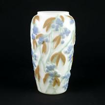 Consolidated Martele Bittersweet 3 Color Vase w Label, Vintage Art Glass... - $122.50