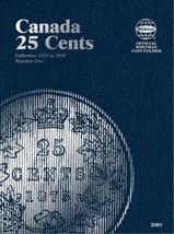 Canada 25 Cents No. 1, 1870-1910, Whitman Coin Folder - $5.75