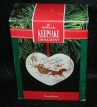 1991 Hallmark Keepsake Sweetheart Porcelain Xmas Ornament - $9.90