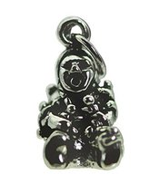Tribal American Indian Storyteller Sterling silver charm Oral storytelli... - $18.79