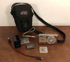 EUC Samsung DualView DV100 6.1 MP Compact Digital Camera - With Extras! - $95.77