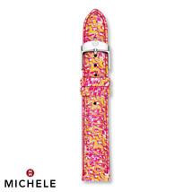 Michele 18mm Yellow Multi Fashion Leather Watch Band Strap MS18AA350702 ... - $27.99