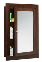 "Ronbow 618125-H01 24"" x 32"" Solid Wood Framed Medicine Cabinet in Dark C... - $241.51"
