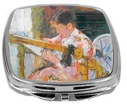Rikki Knight Mary Cassatt Art Compact Mirror Lydia At The Cord Framework NEW - $12.00