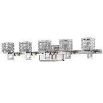 "Caralie Polished Nickel Crystal Wall Light 30""Wx6""H - $399.99"