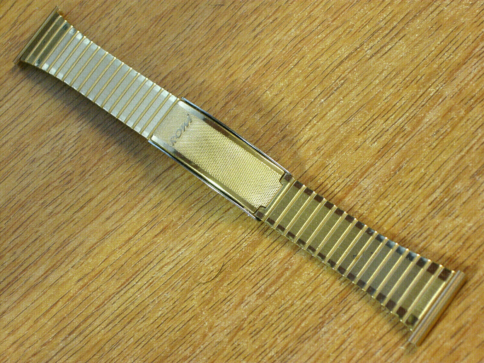 Primary image for 21mm ROWI Vintage Gold Tone Deployment Watch Band Bracelet Made in Germany